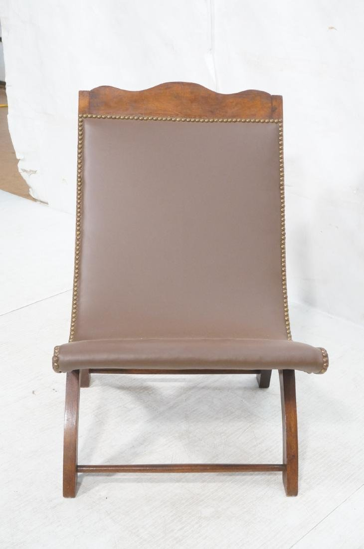 CLARA PORSET Butaque Brown Leather Lounge Chair. - 2
