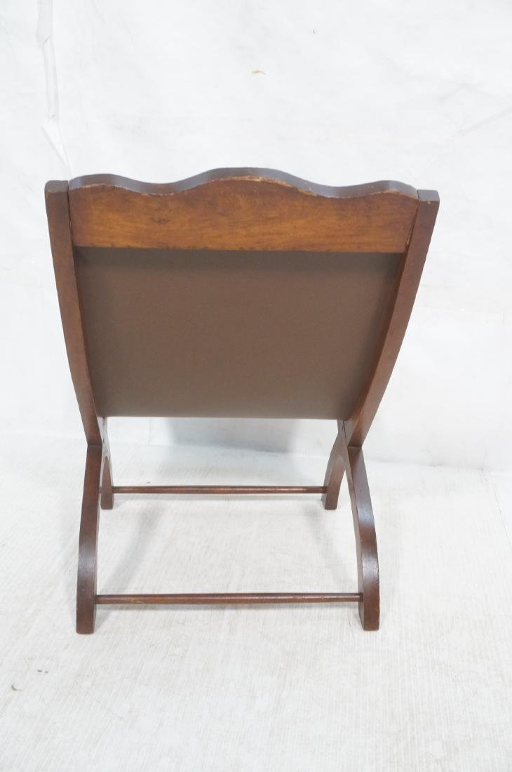 CLARA PORSET Butaque Brown Leather Lounge Chair. - 4