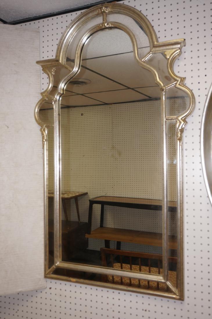 Hollywood Regency Decorator Wall Mirror Silver LeBarge