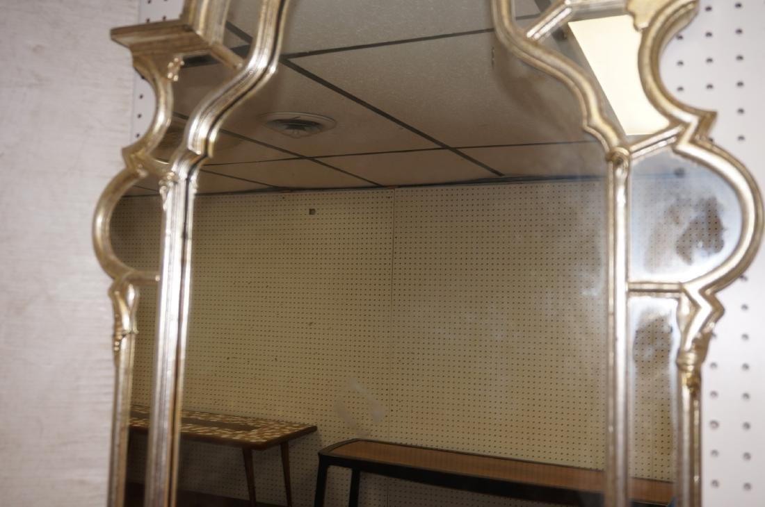 Hollywood Regency Decorator Wall Mirror Silver LeBarge - 3