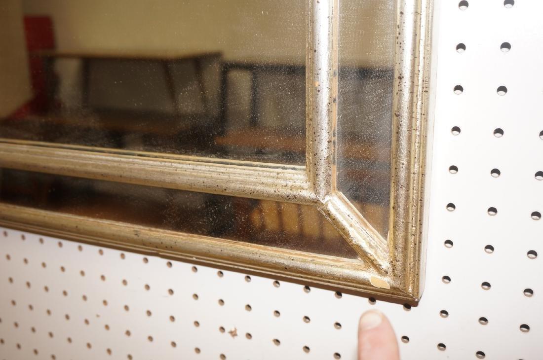 Hollywood Regency Decorator Wall Mirror Silver LeBarge - 5