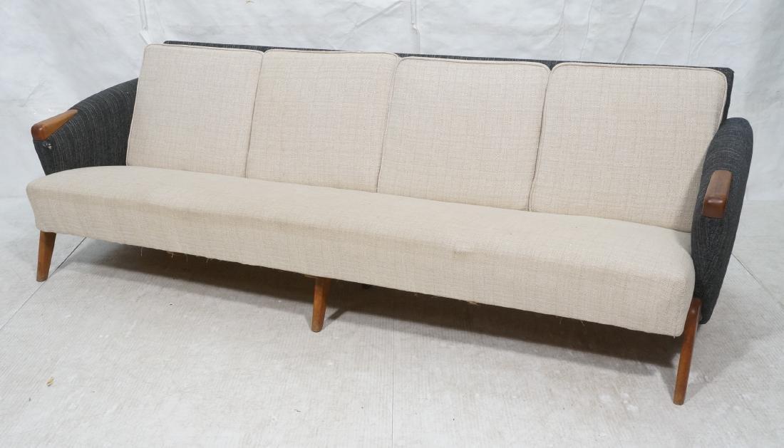 Italian Modern Long Modernist Sofa Couch. Upholst
