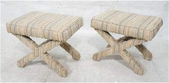 Pr Billy Baldwin Style Fully Upholstered Benches