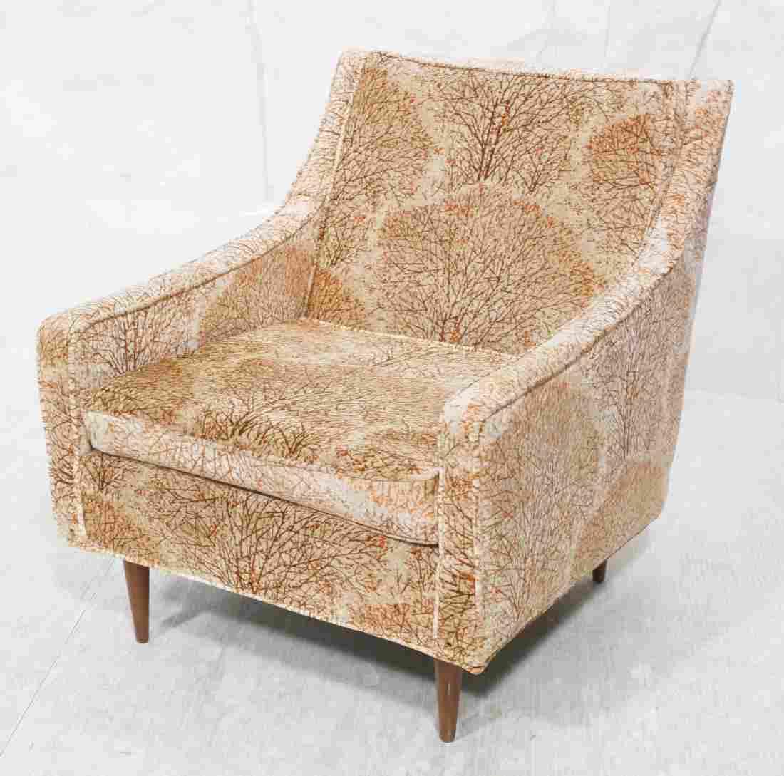 MILO BAUGHMAN Upholstered Modernist Lounge Chair.