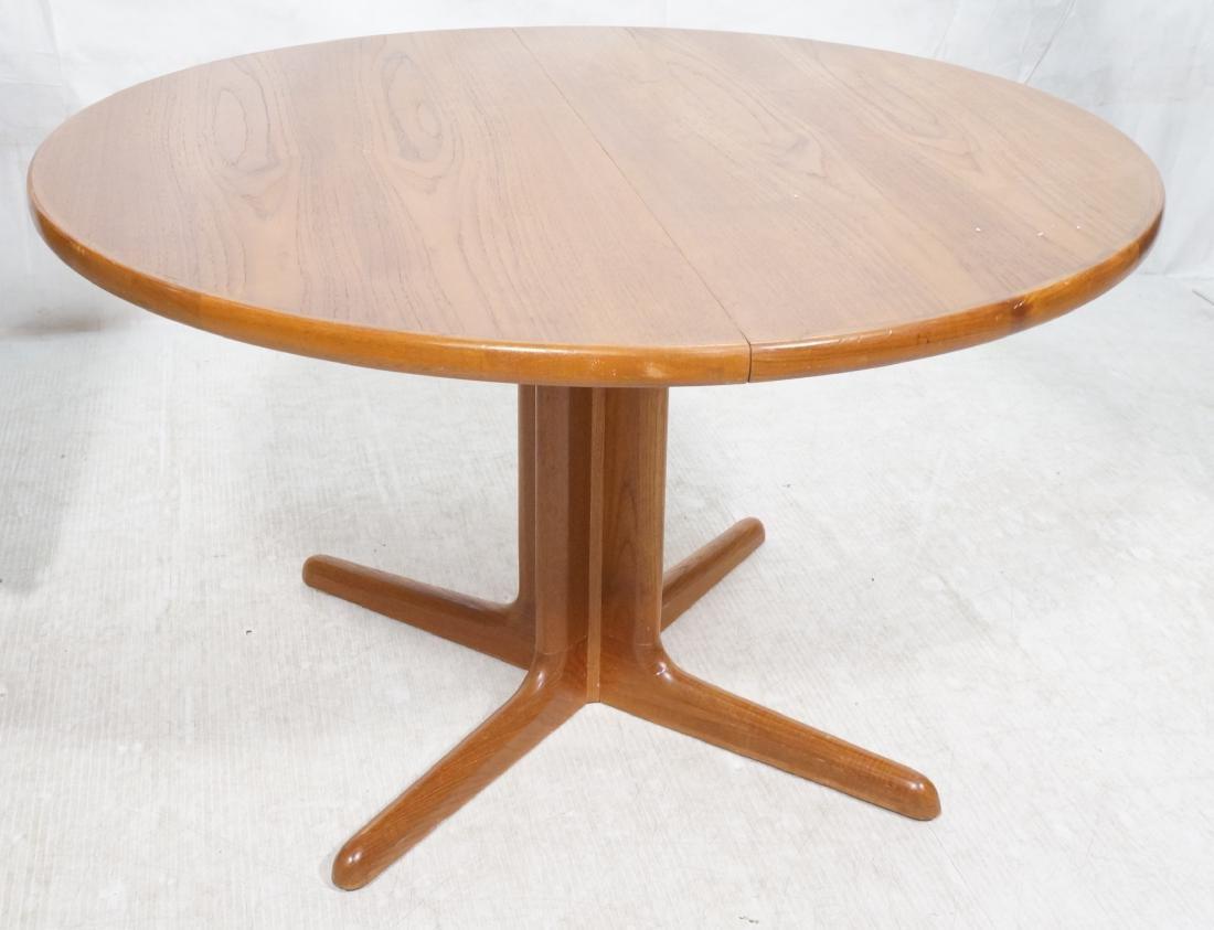 Round Skovby Danish Modern Teak Dining Table Ped Oct 30 2018