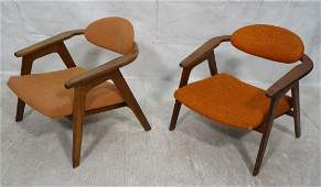 Pr ADRIAN PEARSALL Modernist Walnut Lounge Chairs