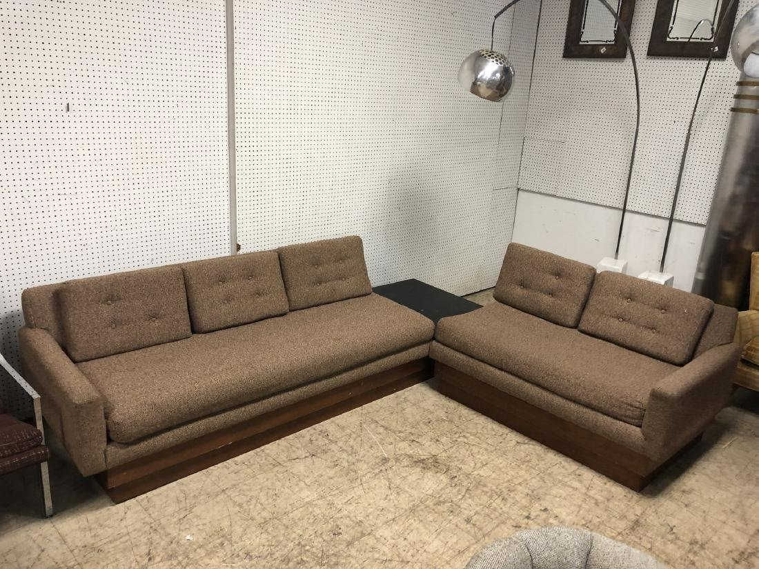 2 part Adrian Pearsall for Craft assoc Walnut Sectional