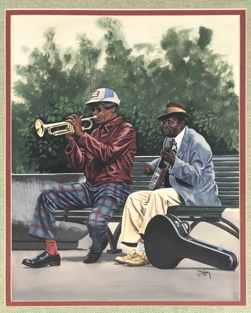 """TOM MCKINNEY  """"PLAYERS"""" - Signed within gouache,"""