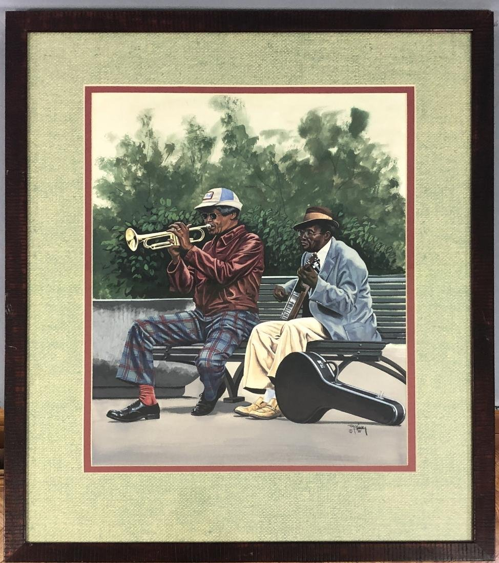 """TOM MCKINNEY  """"PLAYERS"""" - Signed within gouache, - 2"""