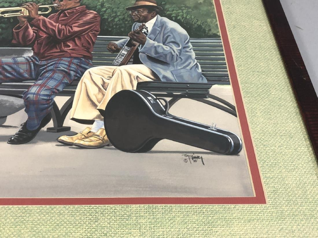 """TOM MCKINNEY  """"PLAYERS"""" - Signed within gouache, - 3"""
