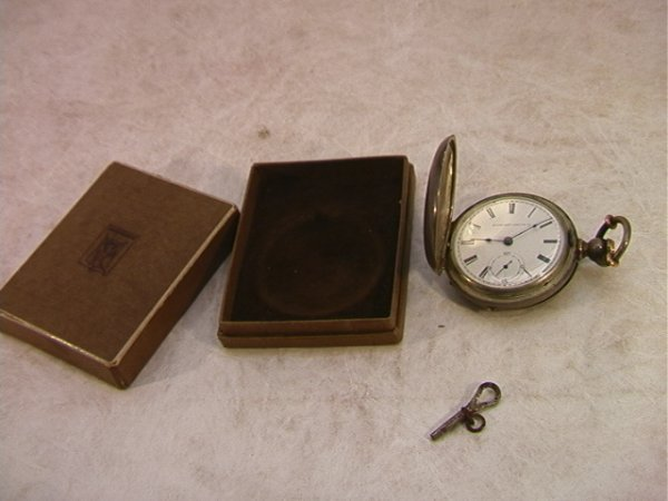 5: Elgin Coin Silver Pocket Watch Key Wind.  The Chief.