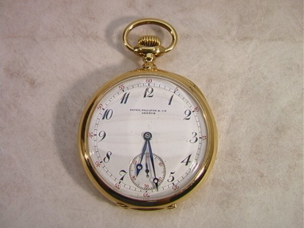 6: 18K YG Patek Philippe Cie Pocket Watch Pocketwatch.