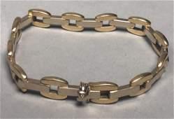 18K Gold Italian Chain Link Bracelet Chain link