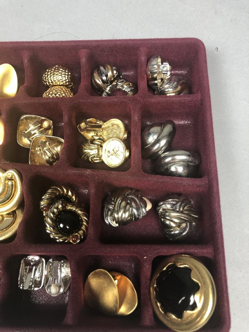Large lot of Costume Jewelry Gold & Silver Tone E - 3
