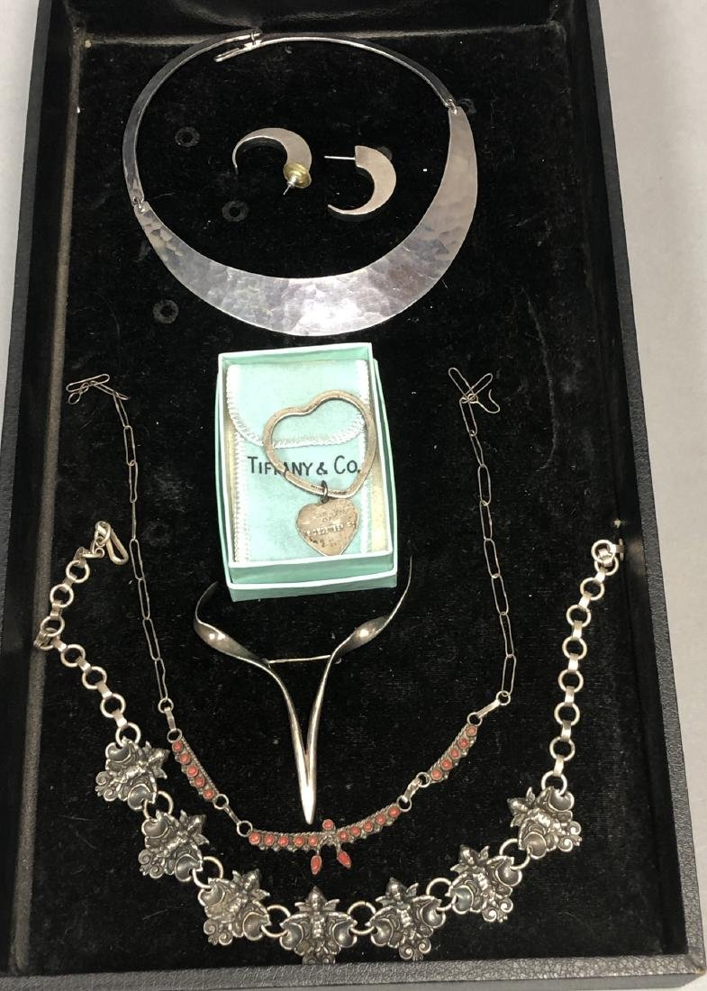 7pc Silver & Sterling Jewelry Lot. TIFFANY & CO S