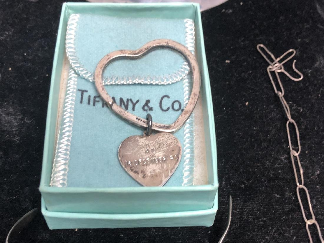 7pc Silver & Sterling Jewelry Lot. TIFFANY & CO S - 5