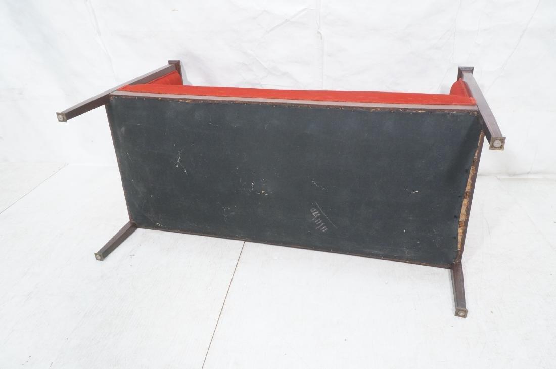 Antique Mahogany Pencil Inlay Settee Love Seat. H - 10