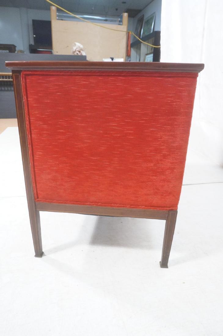 Antique Mahogany Pencil Inlay Settee Love Seat. H - 6