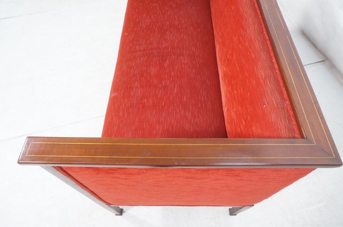 Antique Mahogany Pencil Inlay Settee Love Seat. H - 7