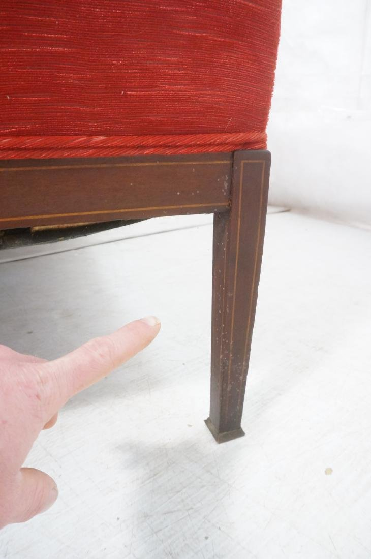 Antique Mahogany Pencil Inlay Settee Love Seat. H - 8