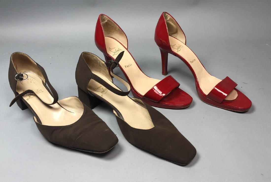 2 pr CHRISTIAN LOUBOUTIN Ladies Shoes. High heel