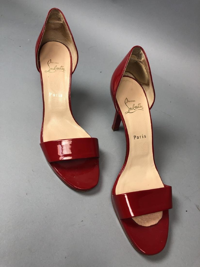 2 pr CHRISTIAN LOUBOUTIN Ladies Shoes. High heel - 7