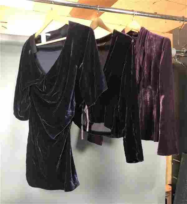 3pc Designer Purple Velvet Fashion. DIANE VON FUR