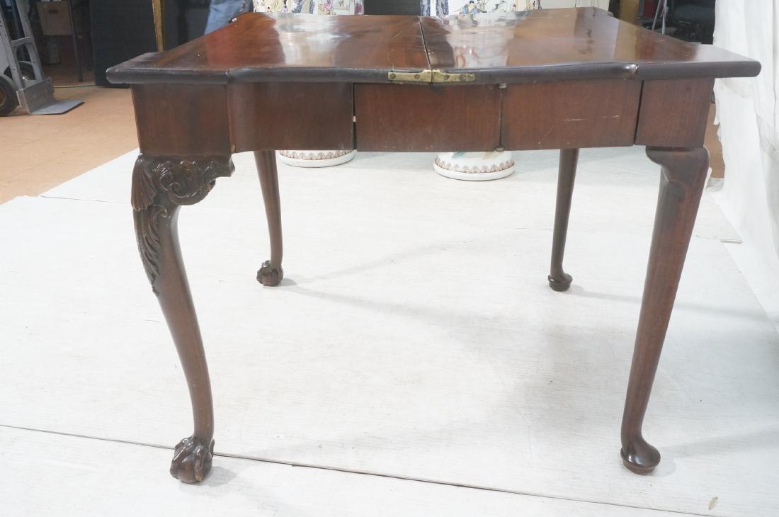 Antique Mahogany Game Table. Accordion Mechanism - 10