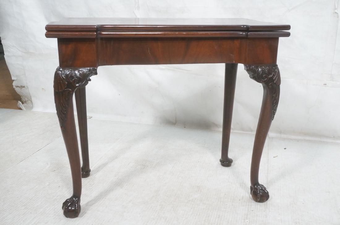 Antique Mahogany Game Table. Accordion Mechanism - 2