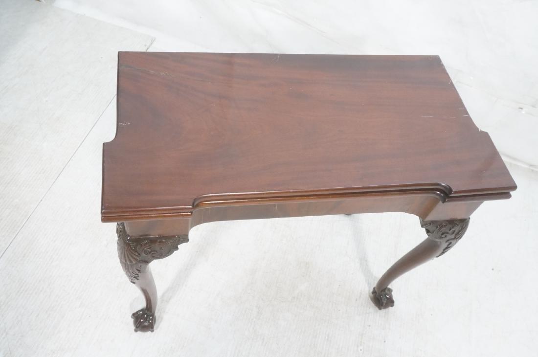 Antique Mahogany Game Table. Accordion Mechanism - 3