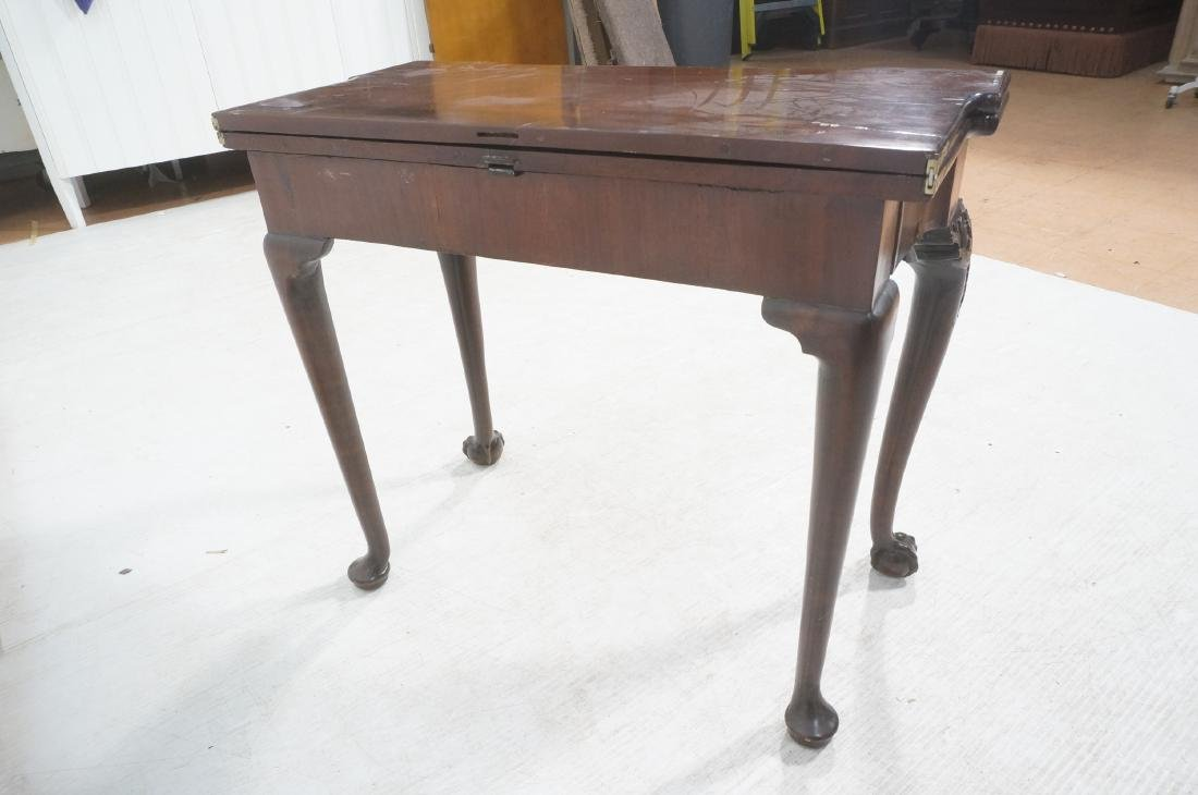 Antique Mahogany Game Table. Accordion Mechanism - 5