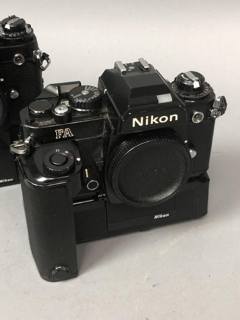 3pc NIKON 35mm Vintage Cameras. Lot includes FA, - 4