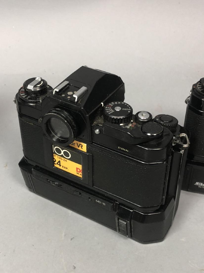3pc NIKON 35mm Vintage Cameras. Lot includes FA, - 5