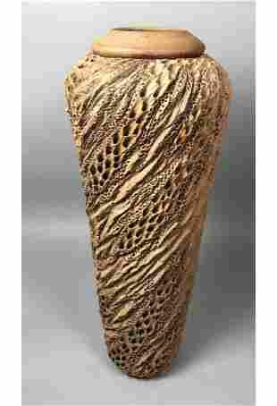"5.5"" Tall ANN GOLDMAN Organic Artisan Pottery Va"