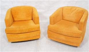 Pr FOUNDERS in MILO BAUGHMAN style Lounge Chairs.