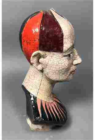 ZBIGNIEW CHOJNACKI Artisan Ceramic Bust Sculpture