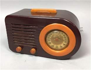 FADA Bullet Bakelite Vintage Radio. Brown Bakelite