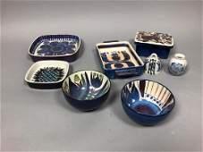 9 pc Lot ROYAL COPENHAGEN Modernist Pottery. Dani