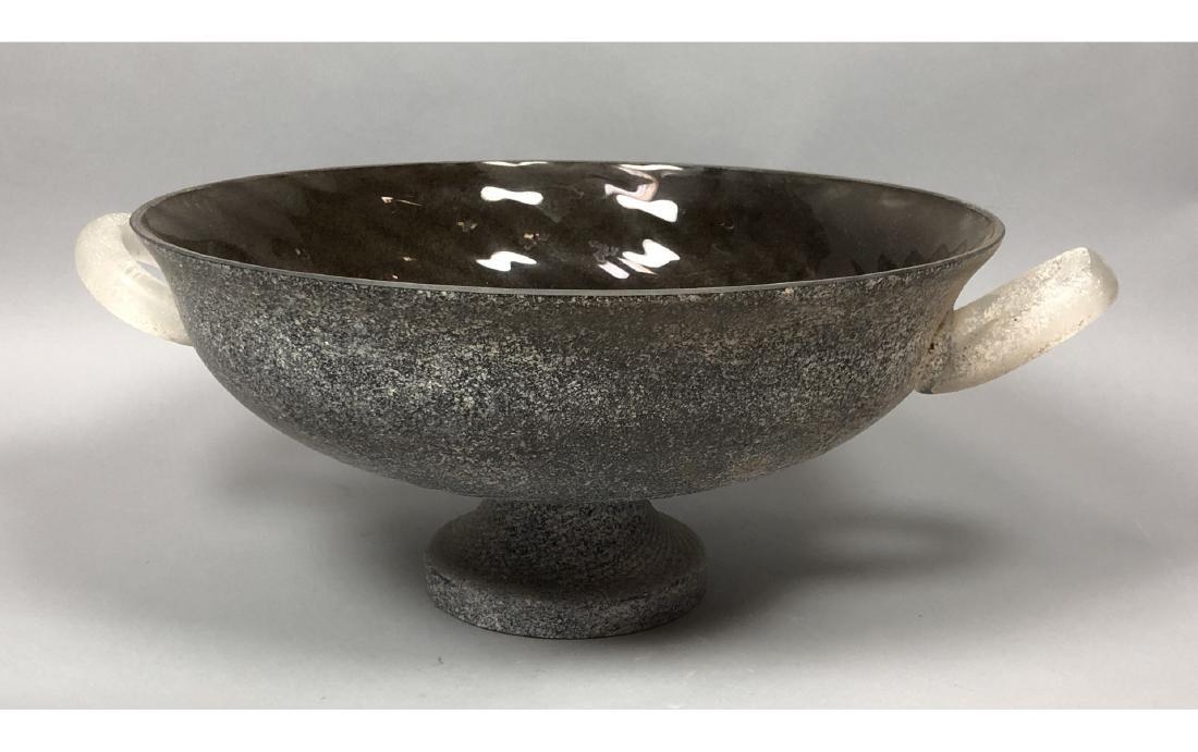 CENEDESE Murano Art Glass Large Center Bowl. Blac