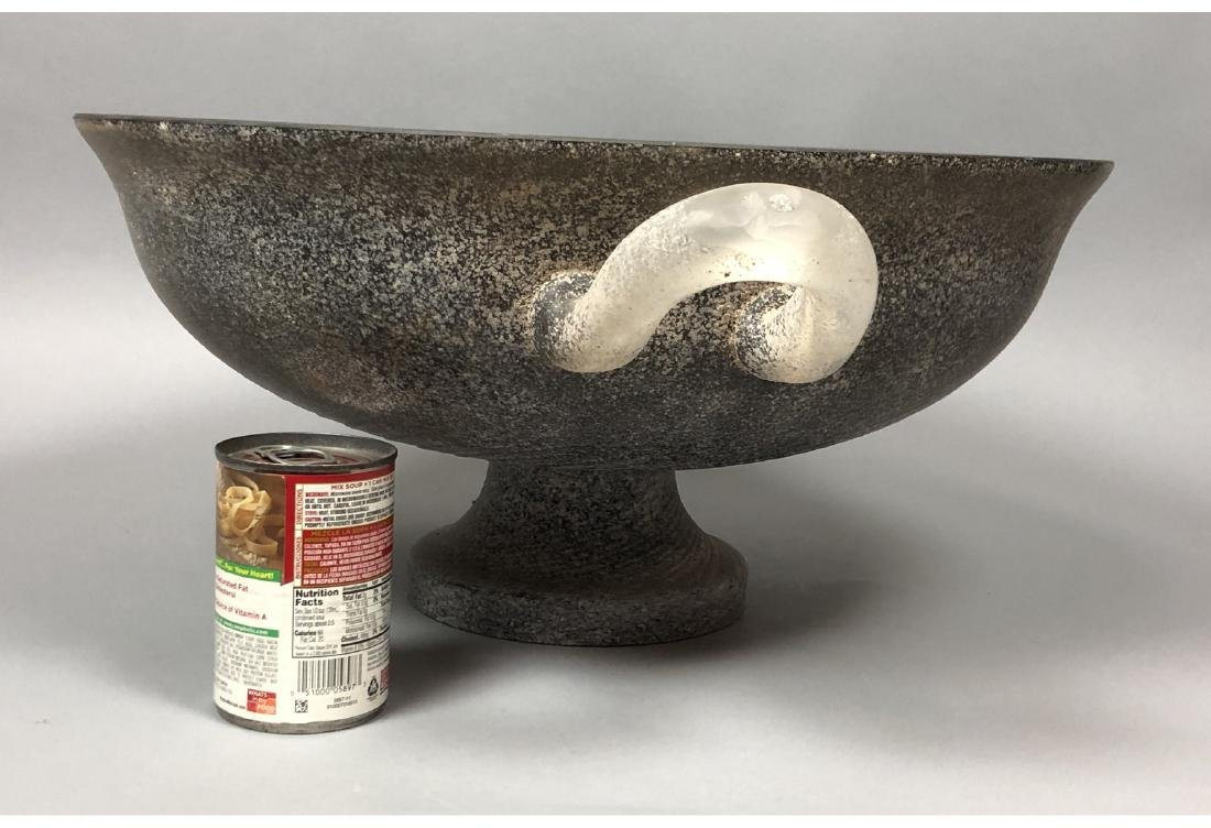 CENEDESE Murano Art Glass Large Center Bowl. Blac - 6