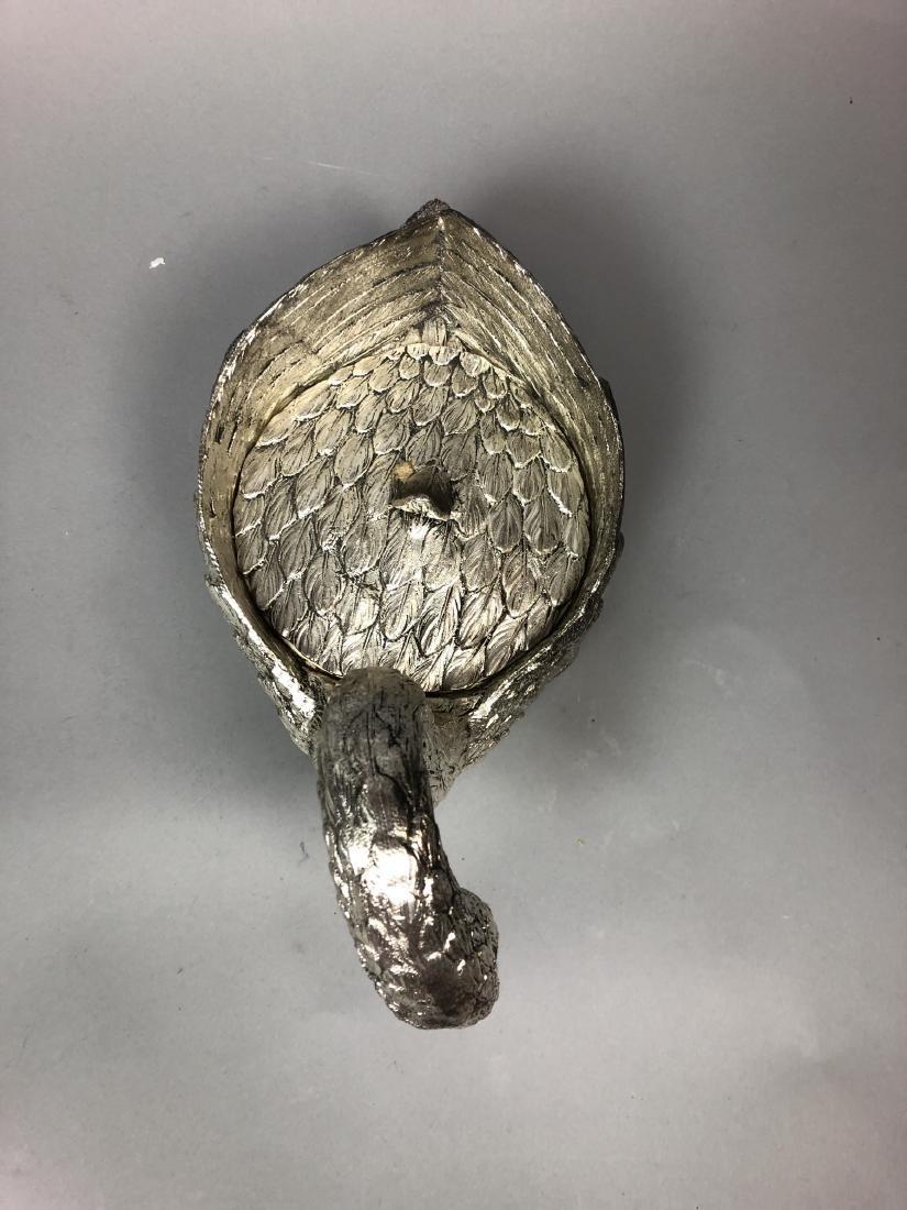 Figural Swan Lidded Ice Bucket. Decorator Serving - 3