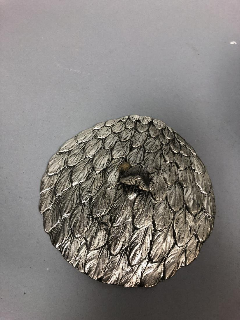 Figural Swan Lidded Ice Bucket. Decorator Serving - 5