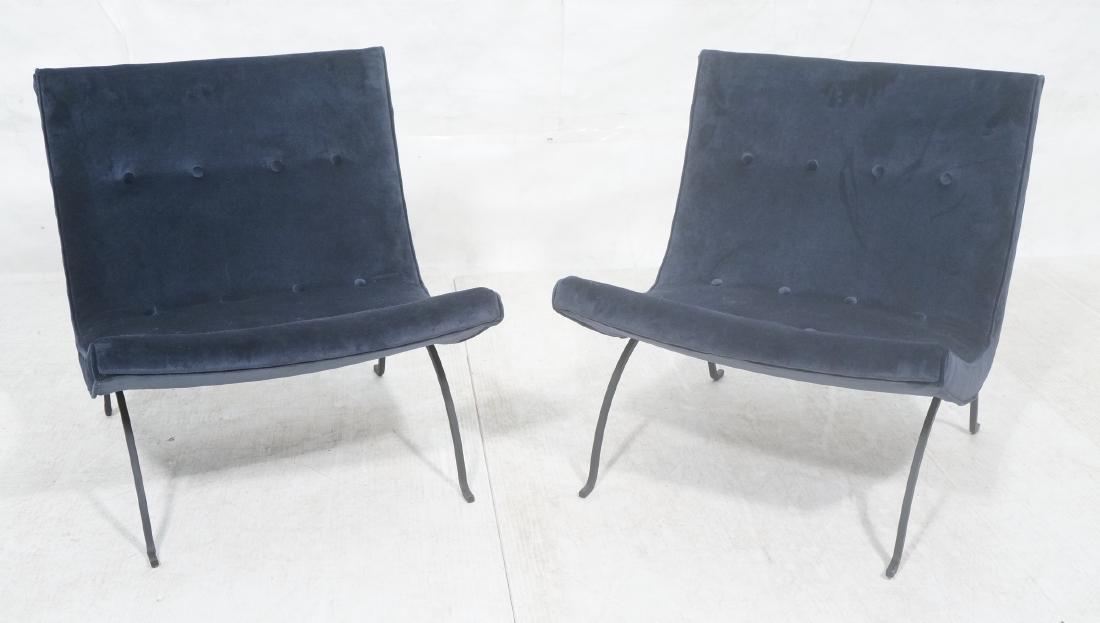 "Pr MILO BAUGHMAN ""Scoop"" Lounge Chairs. Midnight"