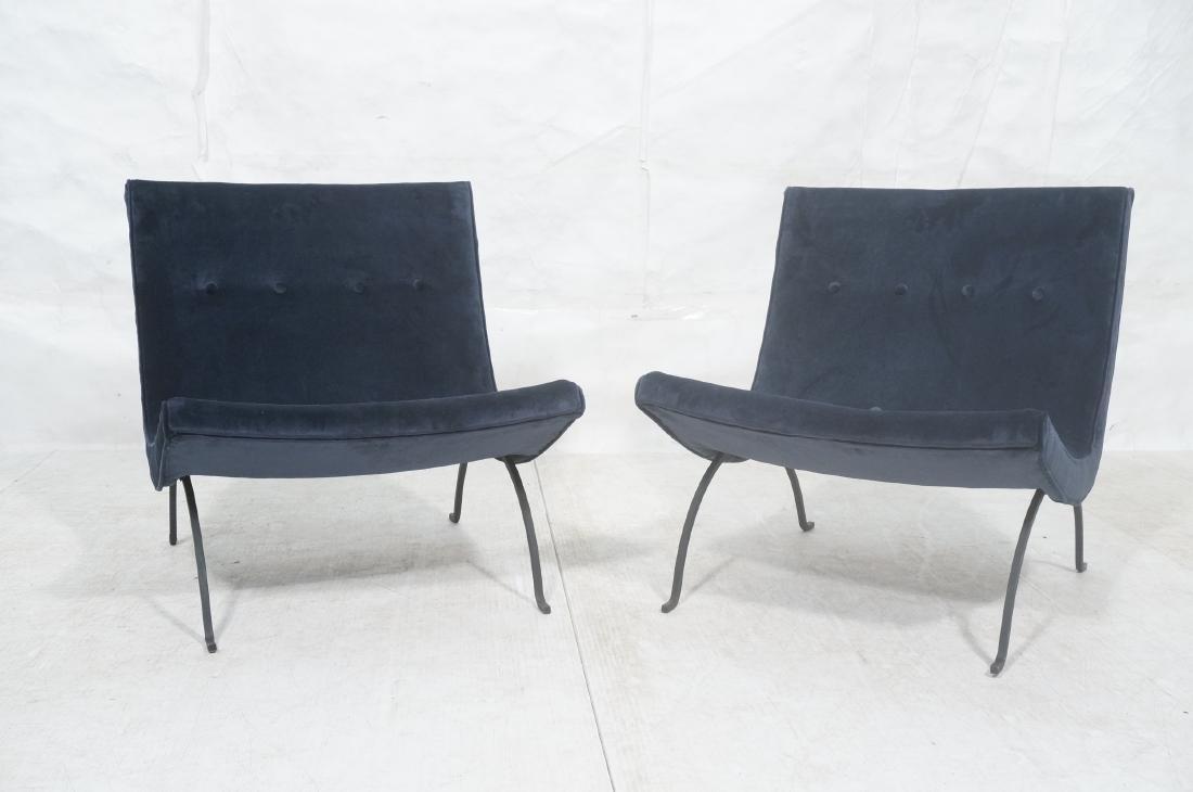 "Pr MILO BAUGHMAN ""Scoop"" Lounge Chairs. Midnight - 2"