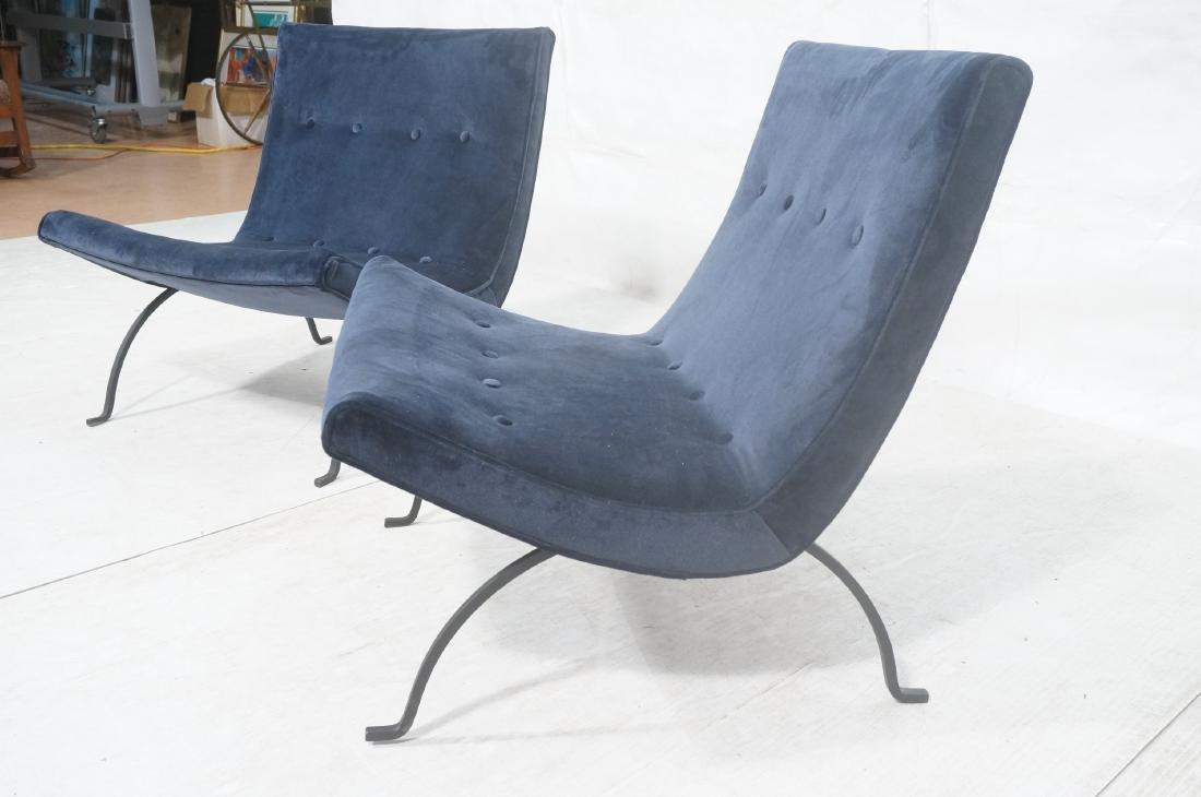 "Pr MILO BAUGHMAN ""Scoop"" Lounge Chairs. Midnight - 3"