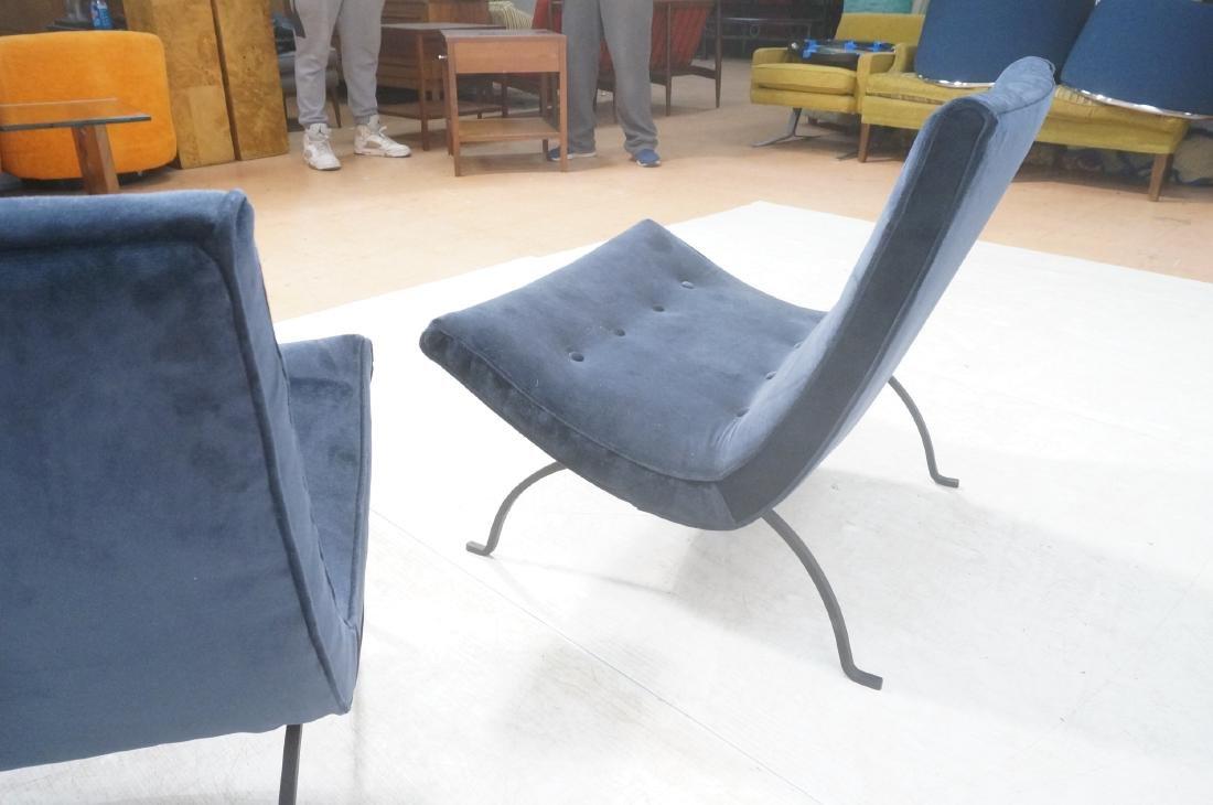 "Pr MILO BAUGHMAN ""Scoop"" Lounge Chairs. Midnight - 5"