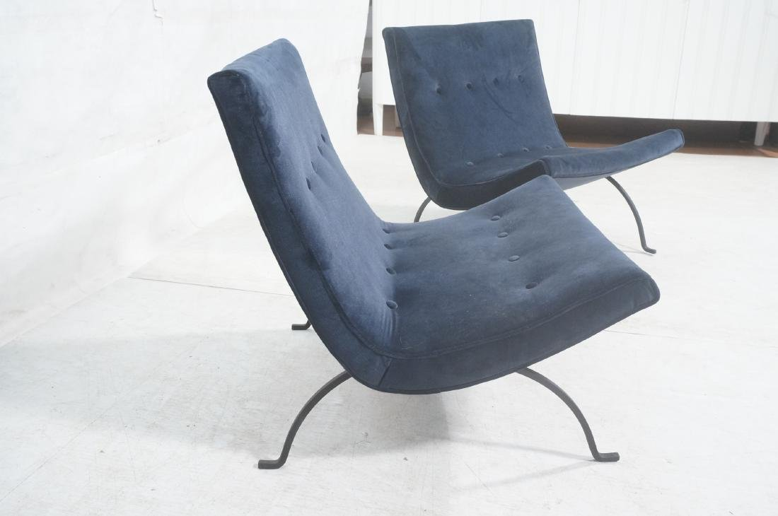 "Pr MILO BAUGHMAN ""Scoop"" Lounge Chairs. Midnight - 7"