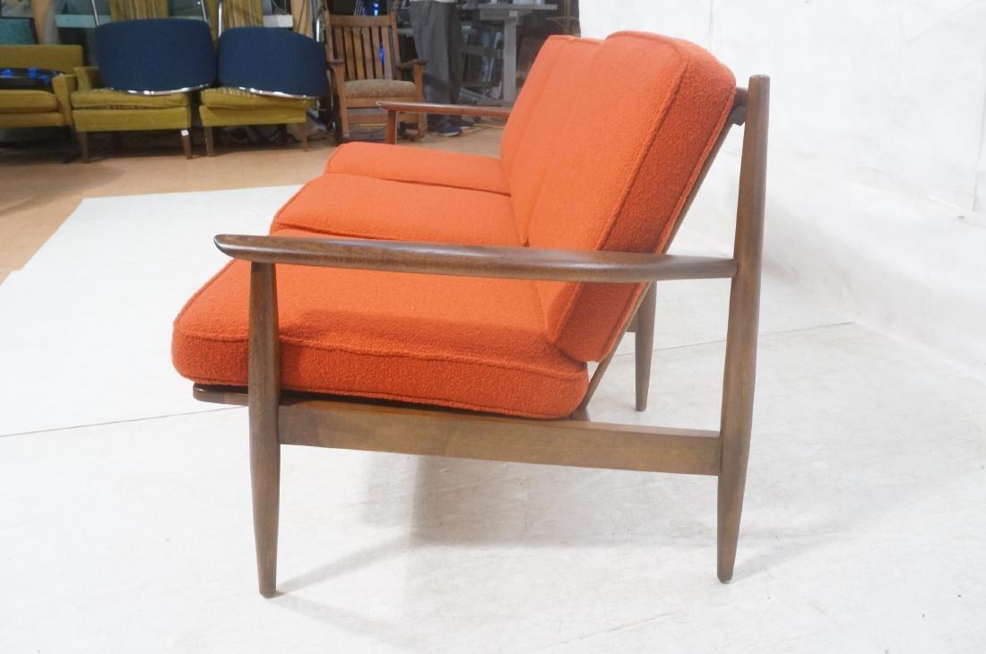Danish Modern style Teak Sofa Couch. Red KNOLL Bo - 4