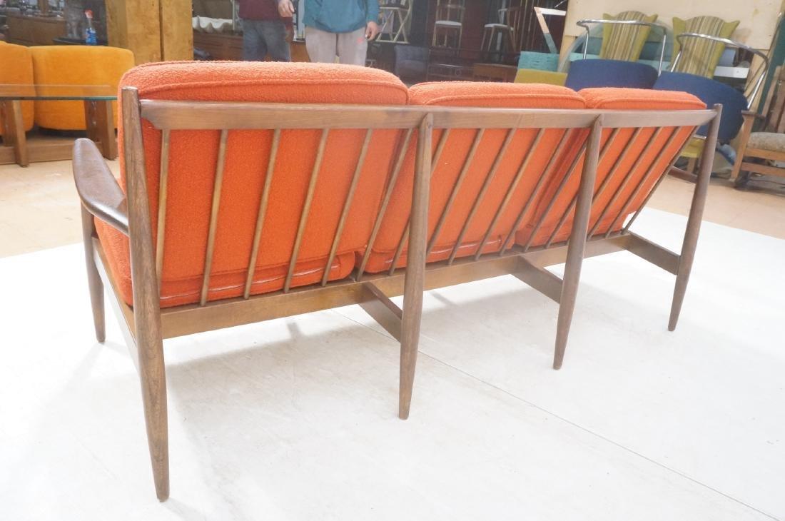 Danish Modern style Teak Sofa Couch. Red KNOLL Bo - 5
