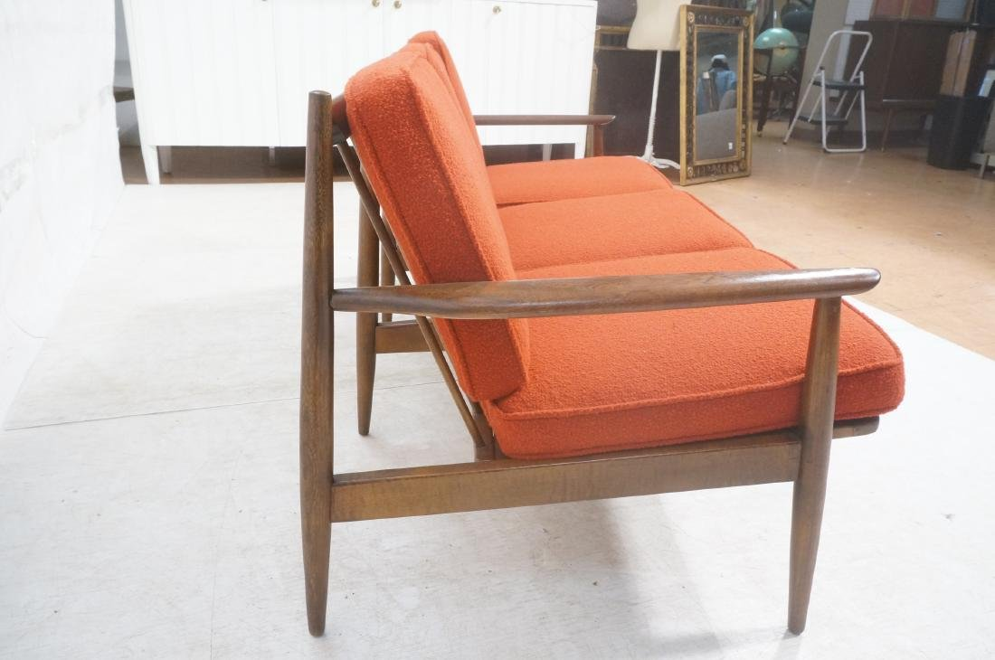 Danish Modern style Teak Sofa Couch. Red KNOLL Bo - 6